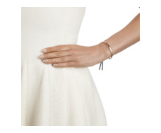 Rose Gold Vermeil Fiji Friendship Bracelet - Teal Model