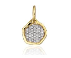 Gold Vermeil Riva Diamond Mini Pendant - Monica Vinader
