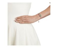 Rose Gold Vermeil Baja Precious Skinny Bracelet - Emerald Stack