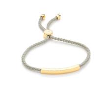 Gold Vermeil Linear Friendship Bracelet - Stone Cord