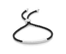 Linear Friendship Bracelet - Black Cord