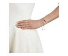 Rose Gold Vermeil Linear Friendship Bracelet - Stone Cord model