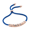 Rose Gold Vermeil Esencia Scatter Friendship Bracelet - Royal Blue - Monica Vinader