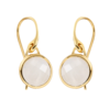 Gold Vermeil Mini Luna Earrings - Moonstone - Monica Vinader