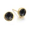 Gold Vermeil Isla Stud Earrings - Black Spinel - Monica Vinader