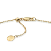 Gold Vermeil Ava Button Necklace - Diamond - Monica Vinader