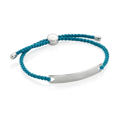 Havana Men's Friendship Bracelet - Mallard Blue - Monica Vinader