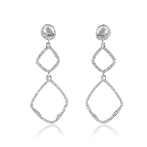 Riva Diamond Hoop Cocktail Earrings - Diamond - Monica Vinader