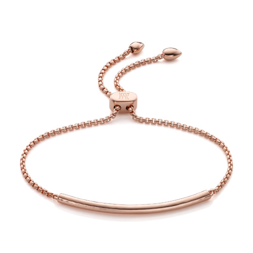 Rose Gold Vermeil Esencia Mini Chain Bracelet - Monica Vinader