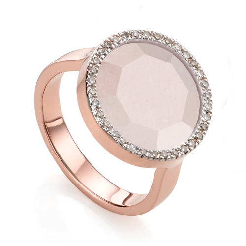 Rose Gold Vermeil Naida Circle Ring - Monica Vinader