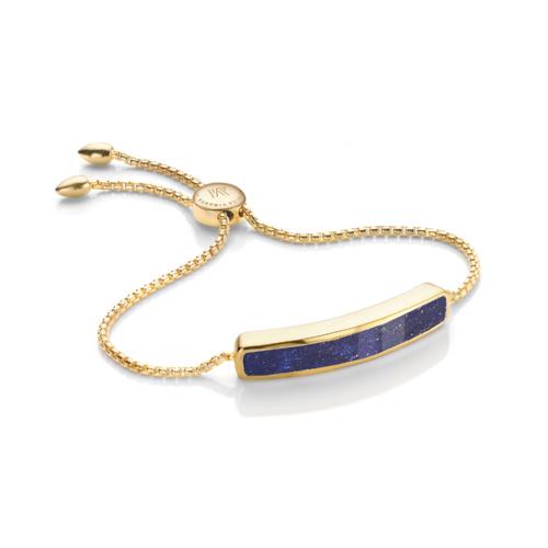 Gold Vermeil Baja Bracelet - Lapis - Monica Vinader