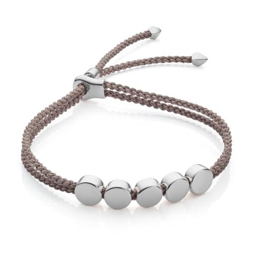 Linear Bead Friendship Bracelet - Mink - Monica Vinader