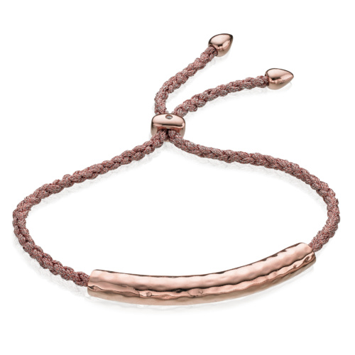 Rose Gold Vermeil Esencia Friendship Bracelet - Rose Gold Metallica - Monica Vinader