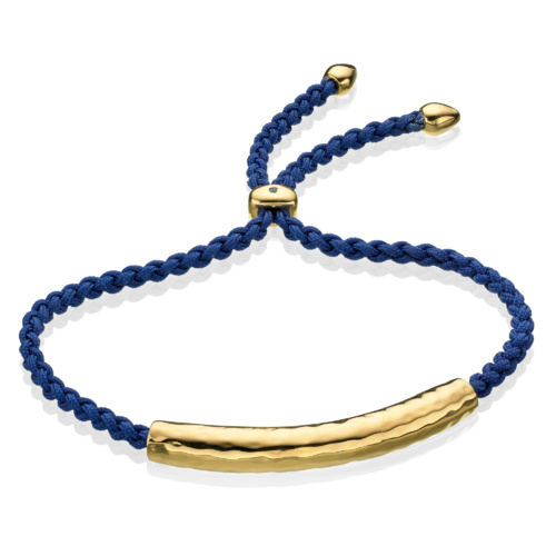 Gold Vermeil Esencia Friendship Bracelet - Royal Blue - Monica Vinader