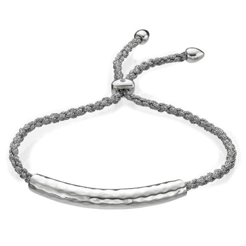Esencia Friendship Bracelet - White Topaz - Silver Metallica - Monica Vinader