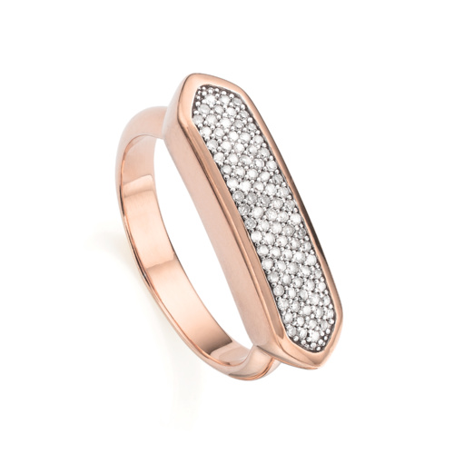 Rose Gold Vermeil Baja Diamond Ring - Diamond - Monica Vinader