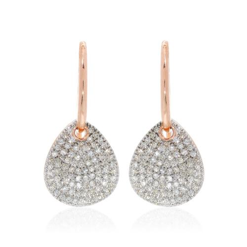 Rose Gold Vermeil Alma Drop Earrings - Diamond