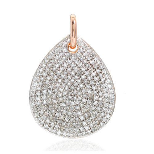 Rose Gold Vermeil Alma Pendant - Diamond