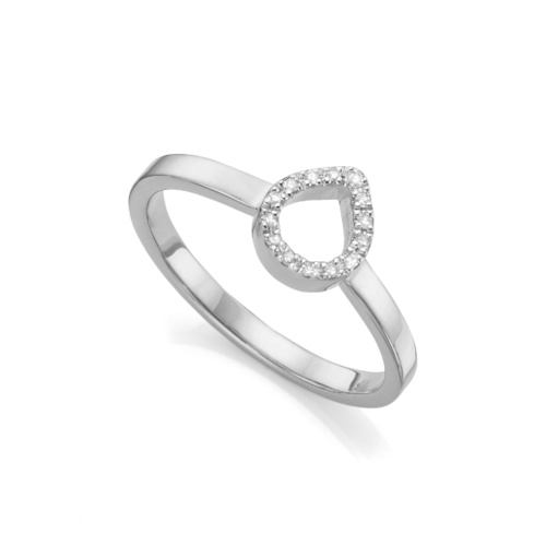 Naida Mini Lotus Open Ring - Diamond