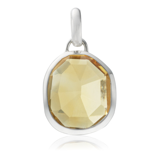 Siren Medium Bezel Pendant - Citrine