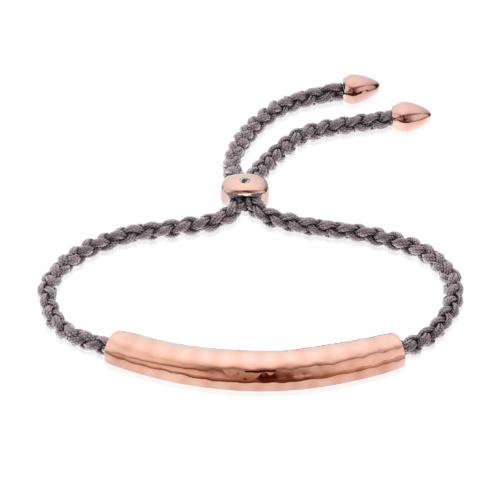 Rose Gold Vermeil Esencia Friendship Bracelet - Mink - Monica Vinader