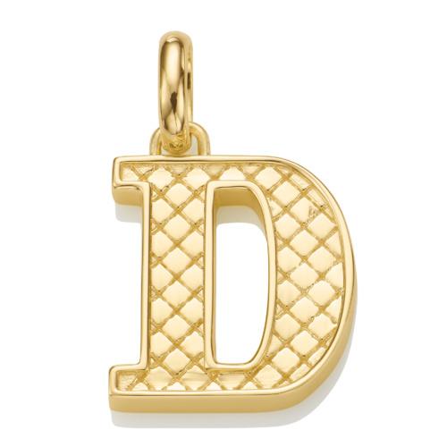 Gold Vermeil Alphabet Pendant D