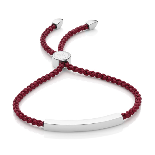 Linear Friendship Bracelet - Dark Wine Cord