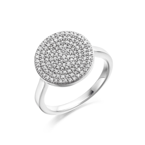 Ava Disc Ring - Diamond - Monica Vinader