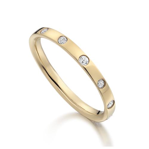 Gold Vermeil Skinny Crown Ring - Diamond - Monica Vinader