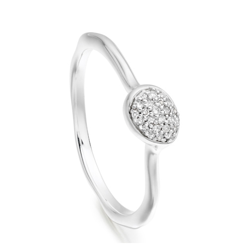 Siren Diamond Small Stacking Ring