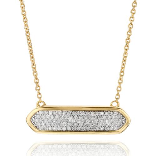 Gold Vermeil Baja Mini Necklace - Diamond - Monica Vinader