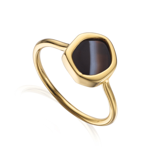 GP Atlantis Gem Mini Stacking Ring - Line Onyx