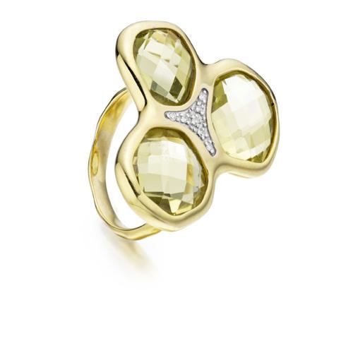 Gold Vermeil Riva Diamond Cluster Ring - Monica Vinader