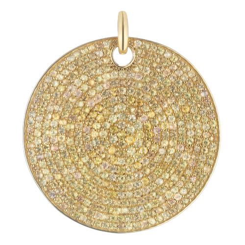 Gold Vermeil Large Yellow Sapphire Ava Pendant - Monica Vinader