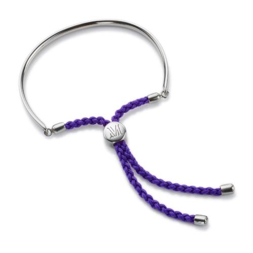 Fiji Friendship Petite Bracelet - Plum - Monica Vinader