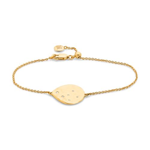 Gold Vermeil Siren Scatter Bracelet - White Topaz