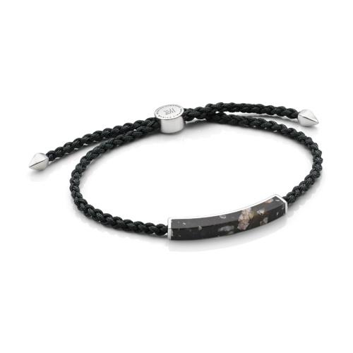 Linear Men's Stone Bracelet - Snowflake Obsidian - Monica Vinader