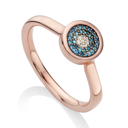 Rose Gold Vermeil Evil Eye Ring